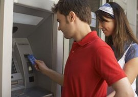 Using a credit card at an ATM can be expensive.