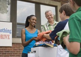 Donations of property like stock and used goods are tax deductible.
