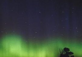 The aurora borealis over Wyoming is created in the thermosphere.