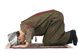 Praying five times daily on a prayer mat is one of the most important customs in Islam.
