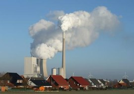 This coal plant in Germany is an example of nonrenewable energy generation.