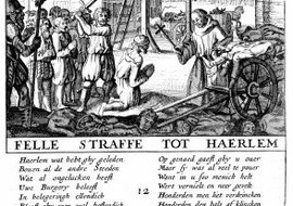 In the Netherlands in the 16th century, 22 noblemen were decapitated for heresy.