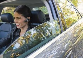 Bluetooth headsets allow you to talk on your phone hands-free.