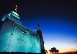 Mormon temples play a large part in the rituals surrounding death.