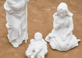 Handpainted nativity figures make a good gift.