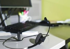 To plug your headset directly into your Toshiba IP-5000 phone, you need a headset with the right bottom cord.