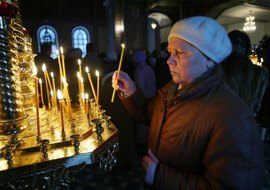 Russian Orthodox Epiphany includes festivals of light and blessings of water.