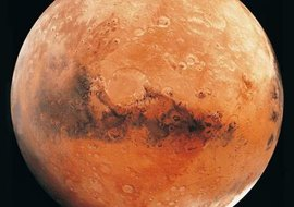The largest dust storms in the solar system occur on Mars.
