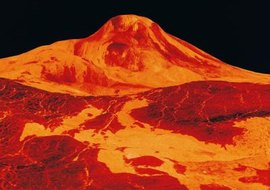 Volcanic activity contributes to acid rain on Venus.