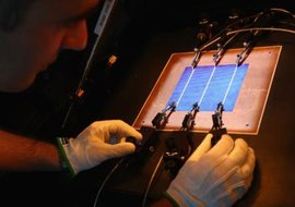 Solar cells convert sunlight to electrical energy in a fairly predictable way.