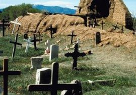 The Navajo perform both traditional and Christian burial practices.