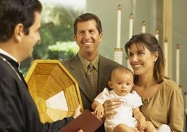 Infant baptism is a community event for Christians.