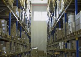 Boxes in warehouses often contain high-tech RFID labels.