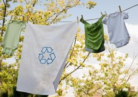 Drying your clothes outside is a simple way to go green.
