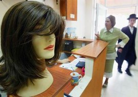 Many Orthodox women use synthetic wigs.