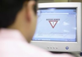 You can use a firewall or security appliance to block access to potentially dangerous websites.