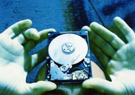 Your laptop's hard drive contains all its stored information.
