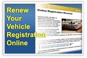 Vehicle Registration Renewal ad example
