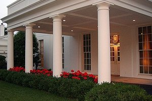 West Wing Portico Entrance