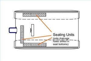 A possible arrangement for the seating/storage compartments