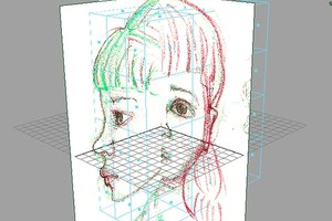 Modeling a Head in Maya 3.5.