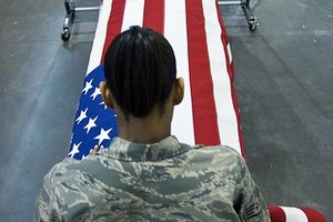Flag-draped caskets are not for everyone.