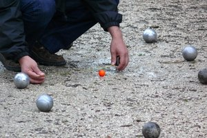 Petanque is a popular ball game in southern France