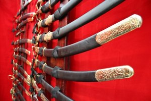 The once feared samurai carried a variety of swords.