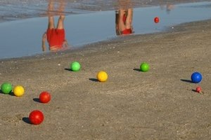 The aim of bocce is to get as close to the pallino as possible.