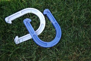 Horseshoes is a game often played in backyards, though there are professional rules.