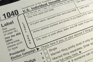 A common tax form for income taxes.