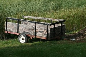 Simple homemade trailers can be used as a small camper.
