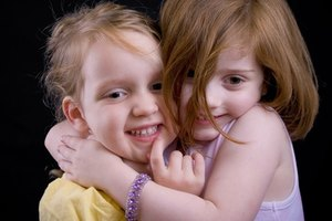 The hugging game fulfills a child's need for physical contact.