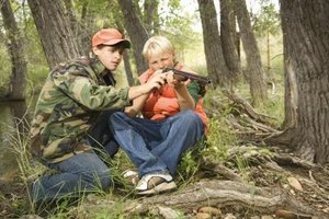 The light recoil of a .22 caliber rifle provides a starting point for young shooters.