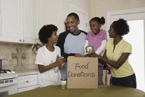 Donated items such as food or garments can help fund charitable organizations.