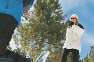 Ski jackets can be worn during winter outdoor activities.