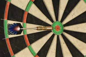 A ring-barreled dart finds the mark.