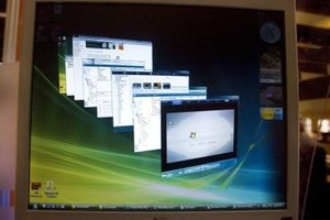 Windows Aero powers advanced graphical features including taskbar previews.