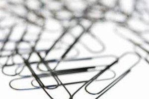 Paper clips can be used to teach Christian group members about morality.