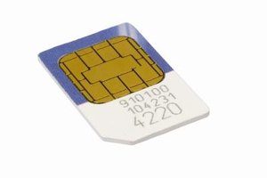 SIM cards store contact data and identify your phone to a GSM network.