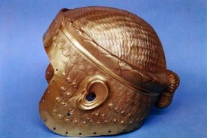 Ancient Mesopotamian helmet