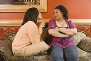 Resist the urge to reflect your sister's emotions during a disagreement.