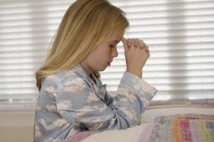 Preschoolers are able to learn simple, straightforward prayers.