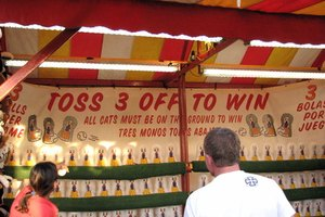 There are many ways to attract people to your booth.
