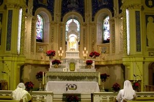 Eucharistic ministers serve Catholic priests and congregations.
