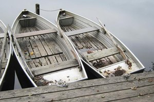 Aluminum fishing boats.