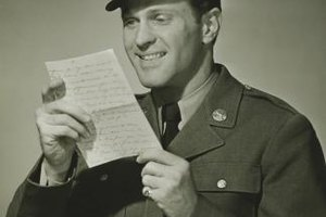 Military members long have enjoyed receiving letters from home.