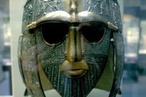 Early audiences might have envisioned Beowulf in an Anglo-Saxon helmet like this one.