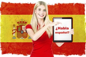 "If you study, you can say ""Hablo espanol,"" or ""I speak Spanish."""