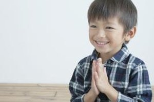Teaching your child to pray is an important step to learning the Lord's Prayer.
